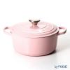 Le Creuset Signature Cocotte Ronde/Round Casserole 24 cm, chiffon pink, cast iron