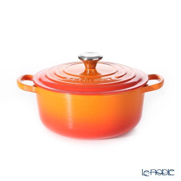 ル・クルーゼ(LeCreuset) シグニチャーココットロンド 20cm オレンジ