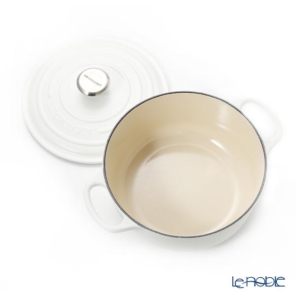 Le Creuset 'Signature' Cotton White [Cast Iron] Round Casserole / Cocotte 20cm