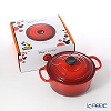 Le Creuset 'Signature - Disney Mickey Mouse' Cerise Cherry Red [Cast Iron] Round Casserole / Cocotte 18cm