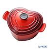 Le Creuset 'Heart' Cerise Red Cast Iron Casserole 20cm 1.9L