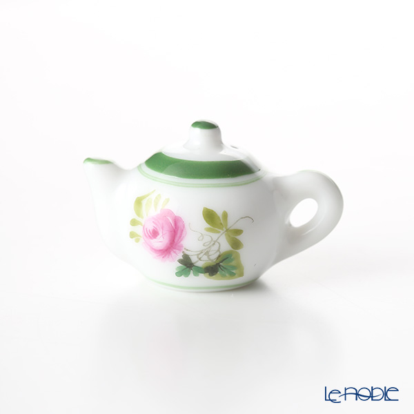 Herend 'Vienna Rose / Vieille Rose de Herend' VRH 8142-0-473 Tea Pot Pendant Top H2cm