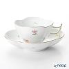 Herend 'Thousand Flowers / Mill Fleur' MF 04196-0-00 Tea Cup & Saucer (Clover shape) 140ml