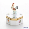 Herend 'Thousand Flowers / Mill Fleur' MF 06105-0-16 Octagonal shape Bononniere (Rooster) 5xH7cm
