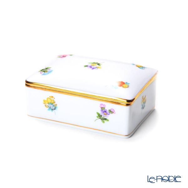 Herend 'Thousand Flowers / Mill Fleur' MF 06115-0-00 Rectangular Box 9x6cm