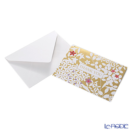 Message card Caspar 14.8 x 10.2 cm (standard-size) BT83610 thank you floral lace gold