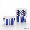 Caspar treat Cup 280 ml CPT13872 stripes blue white 8 pieces