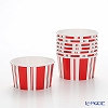 Caspar treat Cup 280 ml CPT13873 stripe red white 8 pieces