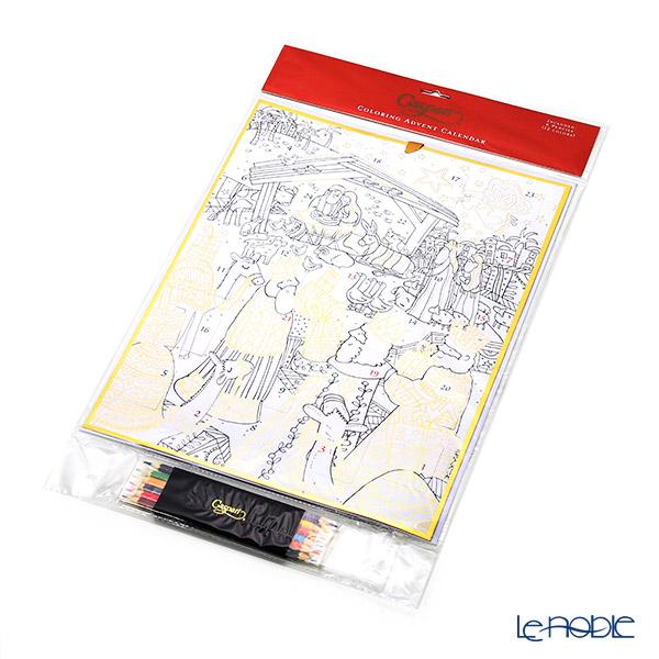 Caspari Coloring Advent Calendar with Colored Pencil XADVUS265 Nativity 32x42cm