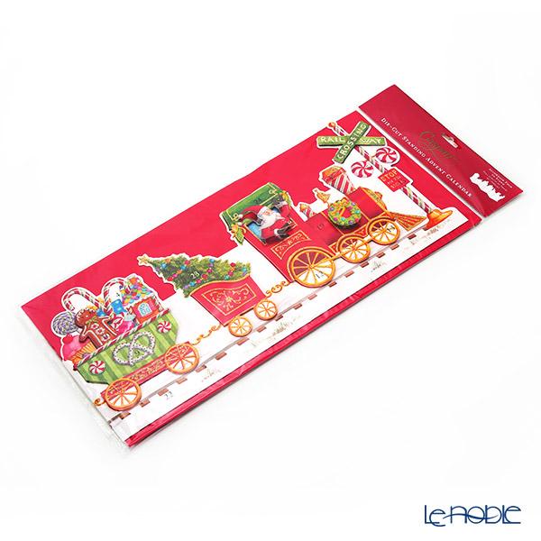 Caspari Advent Calendar XADVUS266 Holiday Express 26.5x5-105x24.5cm