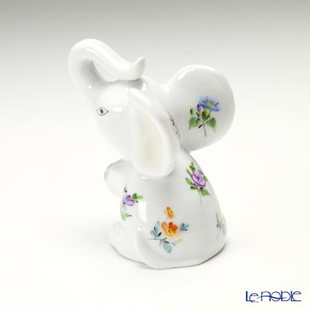ヘレンド ミルフルール MF 15511-0-00おすわり小象 7.2cm