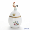 Herend 'Queen Victoria A' VA 06043-0-16 Standing Egg Box (Rooster knob) 5.5xH10cm