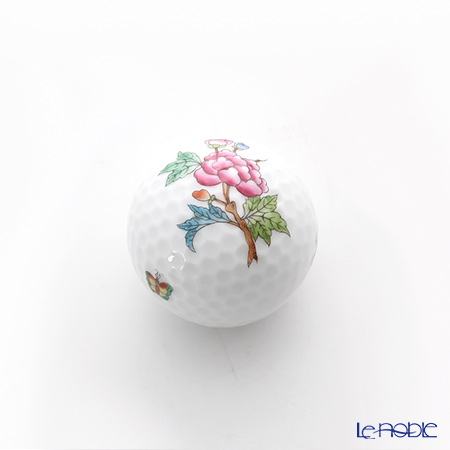 ヘレンド ヴィクトリア・プレーン VA 07803-0-00 ゴルフボール型オブジェ 4cm