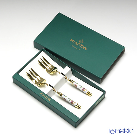 Minton 'Haddon Hall' Gold HH006G Cake Fork 13cm (set of 2)