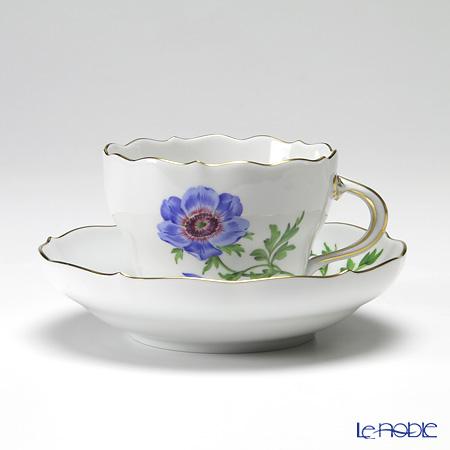 マイセン(Meissen) ベーシックフラワー(一つ花) 030110/00582/01 コーヒーカップ&ソーサー 200cc Motiv No.1 アネモネ