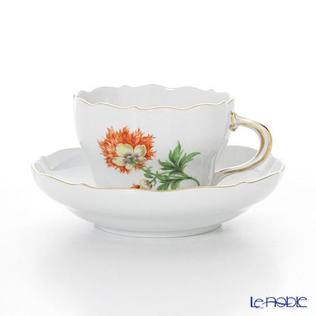 マイセン(Meissen) ベーシックフラワー(一つ花) 030110/00582/08 コーヒーカップ&ソーサー 200cc Motiv No.8 ケシ