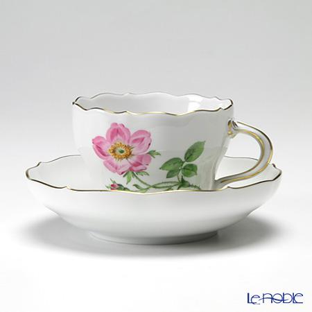 マイセン(Meissen) ベーシックフラワー(一つ花) 030110/00582/13 コーヒーカップ&ソーサー 200cc Motiv No.13 野バラ