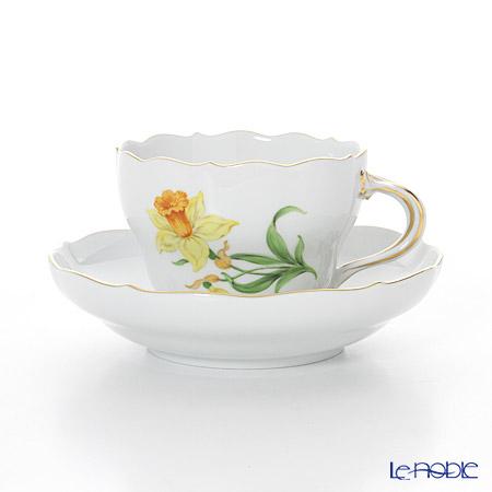 マイセン(Meissen) ベーシックフラワー(一つ花) 030110/00582/26 コーヒーカップ&ソーサー 200cc Motiv No.26 スイセン