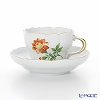 Meissen (Meissen) basic flower (one flowers) 030110 / 00582 / 30 Coffee Cup & Saucer 200 cc Motiv number30 Marigold