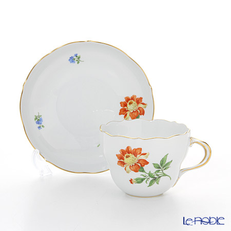 マイセン(Meissen) ベーシックフラワー(一つ花) 030110/00582/30コーヒーカップ&ソーサー 200cc Motiv No.30 マリーゴールド
