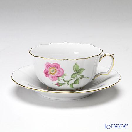 マイセン(Meissen) ベーシックフラワー(一つ花) 030110/00633/13ティーカップ&ソーサー 150cc Motiv No.13 野バラ