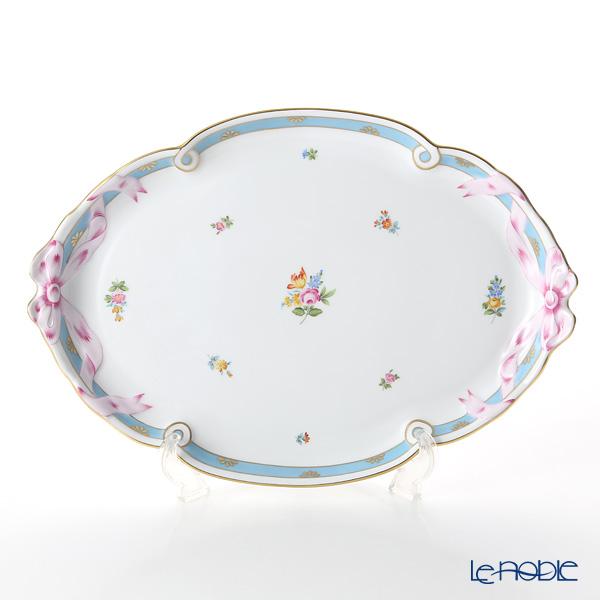 ヘレンド ローズチューリップ ブルー RTFB 20400-0-00 パーティートレイ 38cm