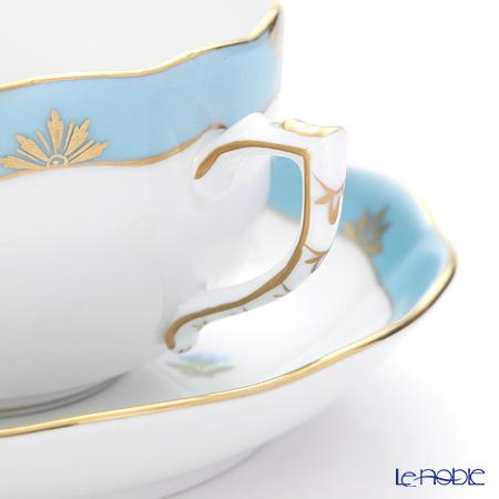 ヘレンド ローズチューリップ ブルー RTFB 20724-0-00ティーカップ&ソーサー 200cc