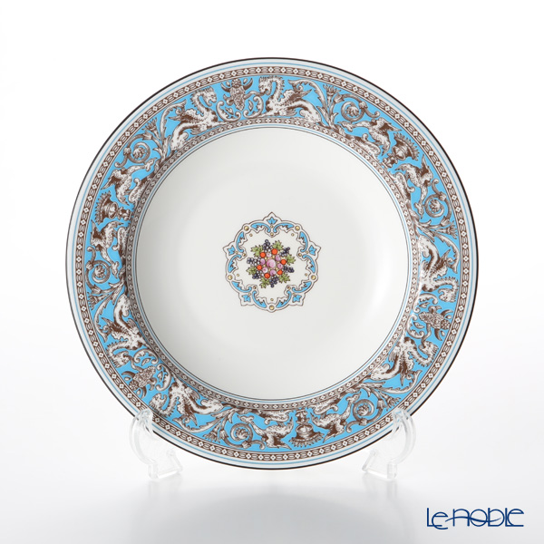 Wedgwood 'Florentine Turquoise' Blue Soup Plate 22.5cm