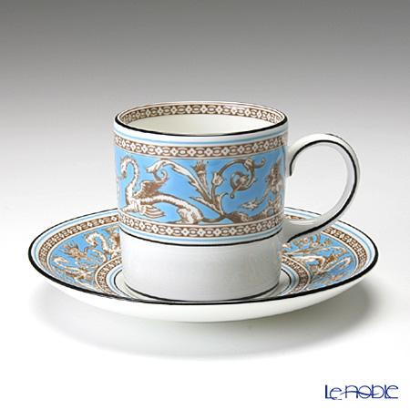 ウェッジウッド(Wedgwood) フロレンティーン ターコイズコーヒーカップ&ソーサー(キャン)