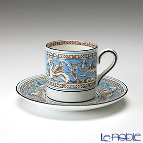 ウェッジウッド(Wedgwood) フロレンティーン ターコイズ コーヒーカップ&ソーサー(ボンド)