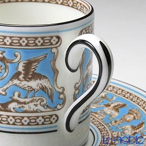 ウェッジウッド(Wedgwood) フロレンティーン ターコイズコーヒーカップ&ソーサー(ボンド)