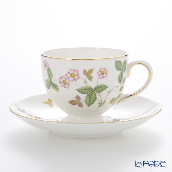 Wedgwood Wild Strawberry Leigh Teacup & Saucer