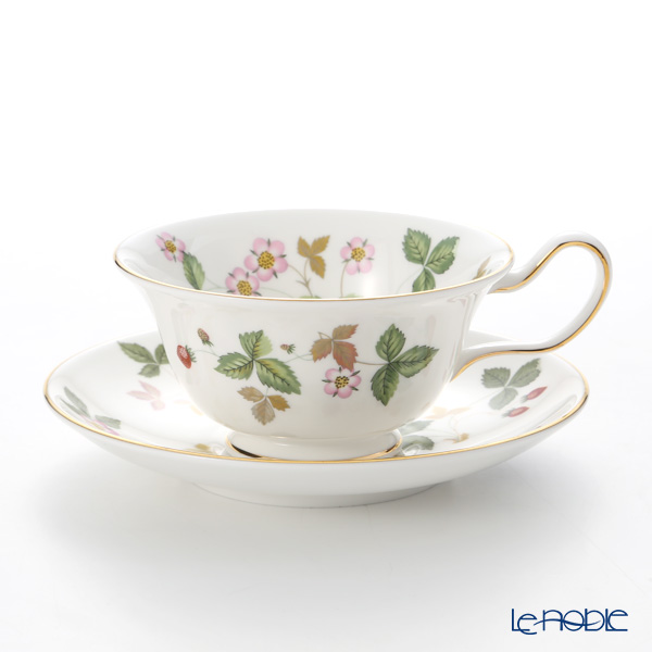 Wedgwood Wild Strawberry Peony Teacup & Saucer