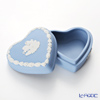Wedgwood 'Jasperware - Pale Blue' Heart Box 7x7.5cm
