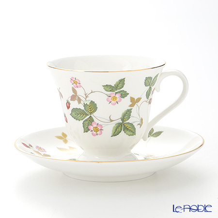 Wedgwood 'Wild Strawberry' Victoria shape Tea Cup & Saucer 180ml