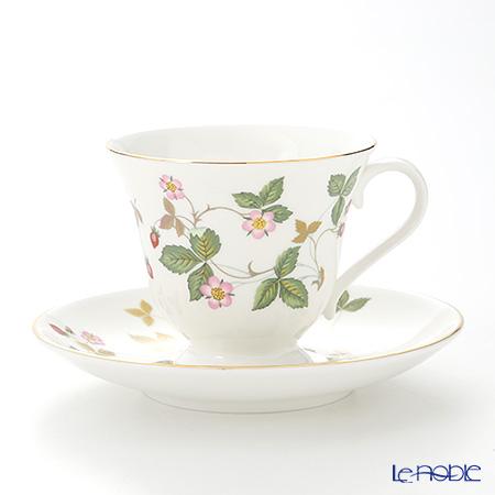 ウェッジウッド(Wedgwood) ワイルドストロベリーティーカップ&ソーサー(ビクトリア) 180cc