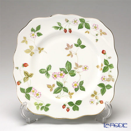 Wedgwood 'Wild Strawberry' Square Dessert Plate 21cm