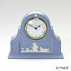 Wedgwood 'Jasperware - Pale Blue' Mantle Desk Clock 16.5xH13.5cm