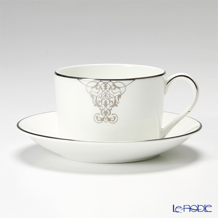 Wedgwood Vera Wang Imperial Scroll Teacup & Saucer