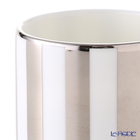 Wedgwood 'Jasper Conran - Platinum' Striped Accent Espresso Cup & Saucer 80ml