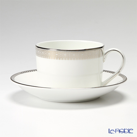 Wedgwood Vera Wang Lace Platinum Teacup & Saucer