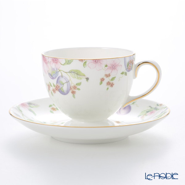 Wedgwood 'Sweet Plum' Leigh Tea Cup & Saucer 200ml