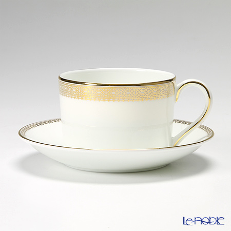 Wedgwood Vera Wang Lace Gold Teacup & Saucer