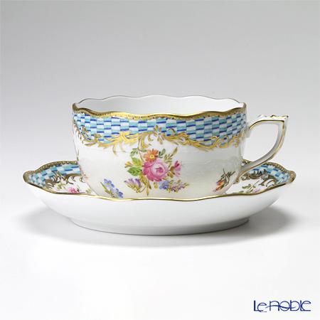 ヘレンド ターコイズエンブレム CBTA 00724-0-00/724 ティーカップ&ソーサー 200cc