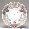ヘレンド トゥッピーニの角笛 TCA 08402-0-50プレート(オープンワーク) 33.8cm