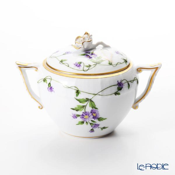 Herend 'Imola' Purple IA 00472-0-09 Sugar Pot (Rose knob) 200ml Covered