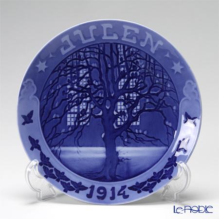 ロイヤルコペンハーゲン(Royal Copenhagen) イヤープレート 1914年/大正3年 「木にとまるすずめ」