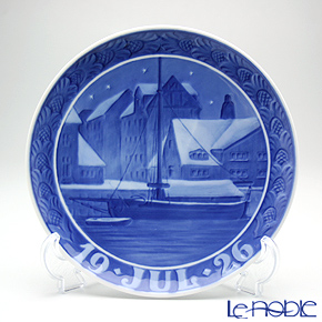 Royal Copenhagen Collectibles 'Christianshavn Canal' 1926 Christmas Plate 18cm