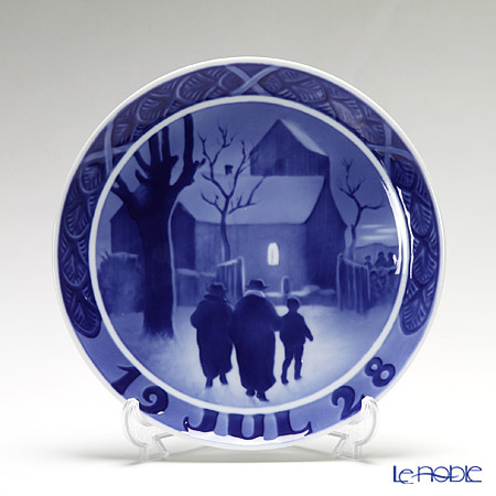Royal Copenhagen Collectibles 'Vicar's Family' 1928 Christmas Plate 18cm