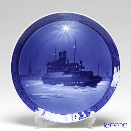 Royal Copenhagen Collectibles 'Great Belt Ferry' 1933 Christmas Plate 18cm